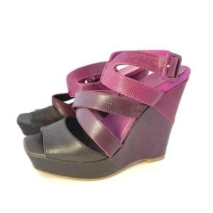 Juicy Couture Wedge Sandals Purple Size 7 37